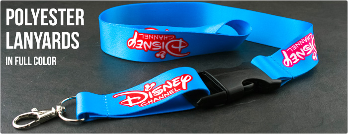 Polyester lanyards full-color